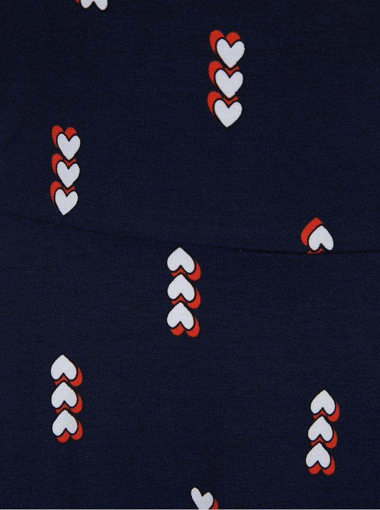 Tmavě modré vzorované šaty bez rukávů Dorothy Perkins