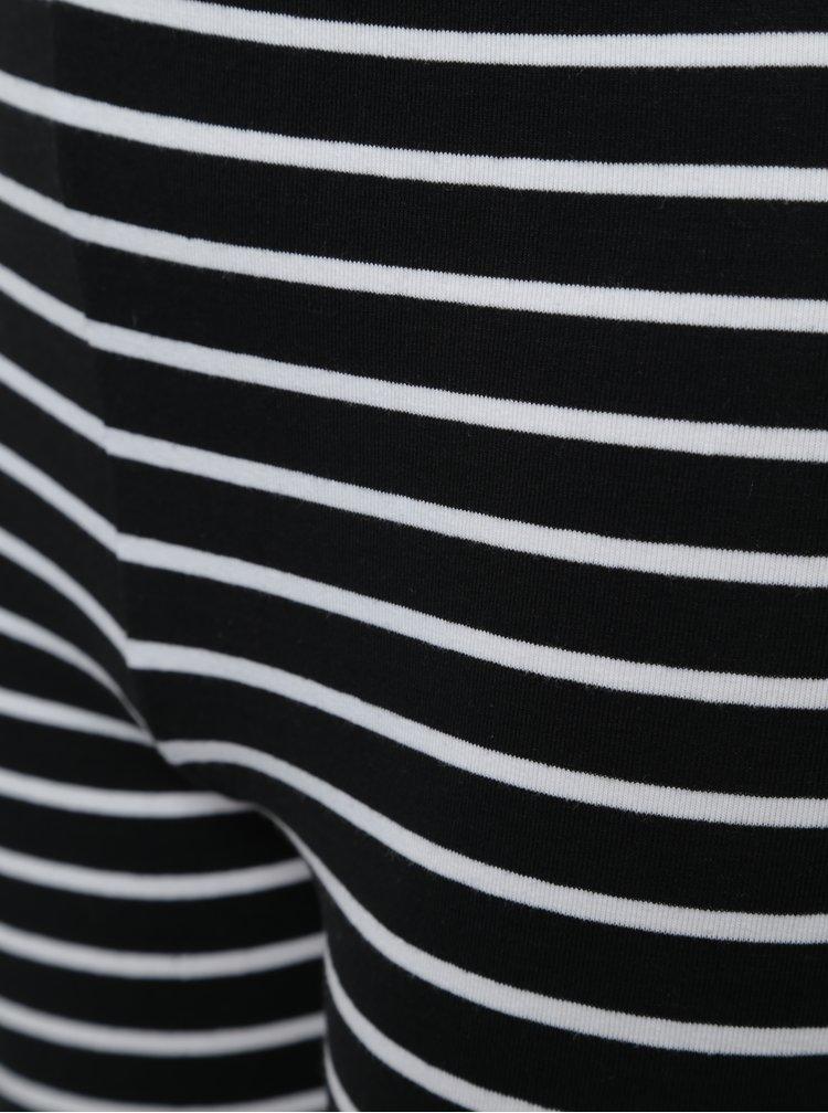 Bílo-černé holčičí pruhované legíny Blue Seven