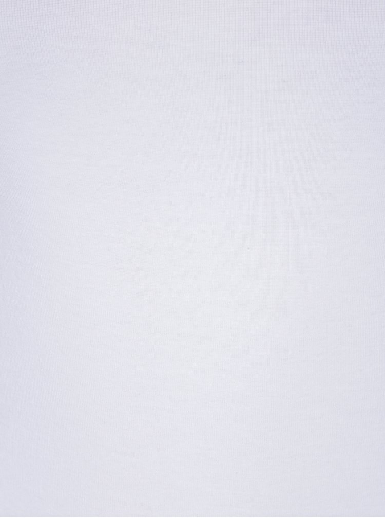 Bílé basic tričko s krátkým rukávem Dorothy Perkins