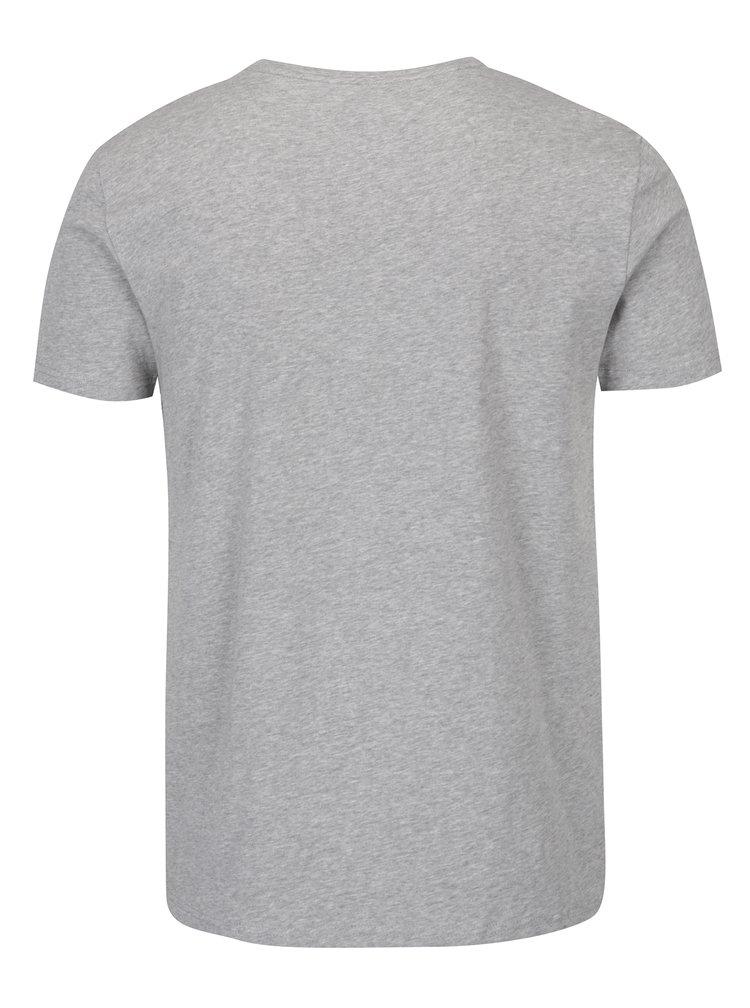 Šedé pánské basic tričko s krátkým rukávem Tommy Hilfiger New Stretch
