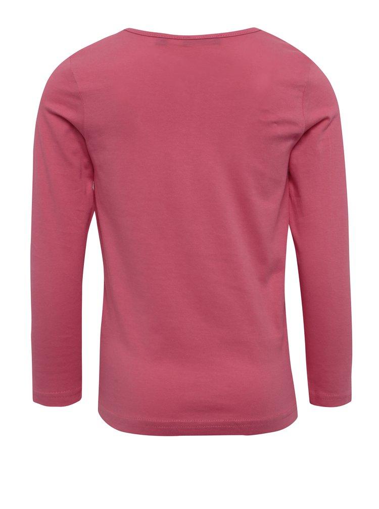 Tmavě růžové holčičí tričko s potiskem Blue Seven