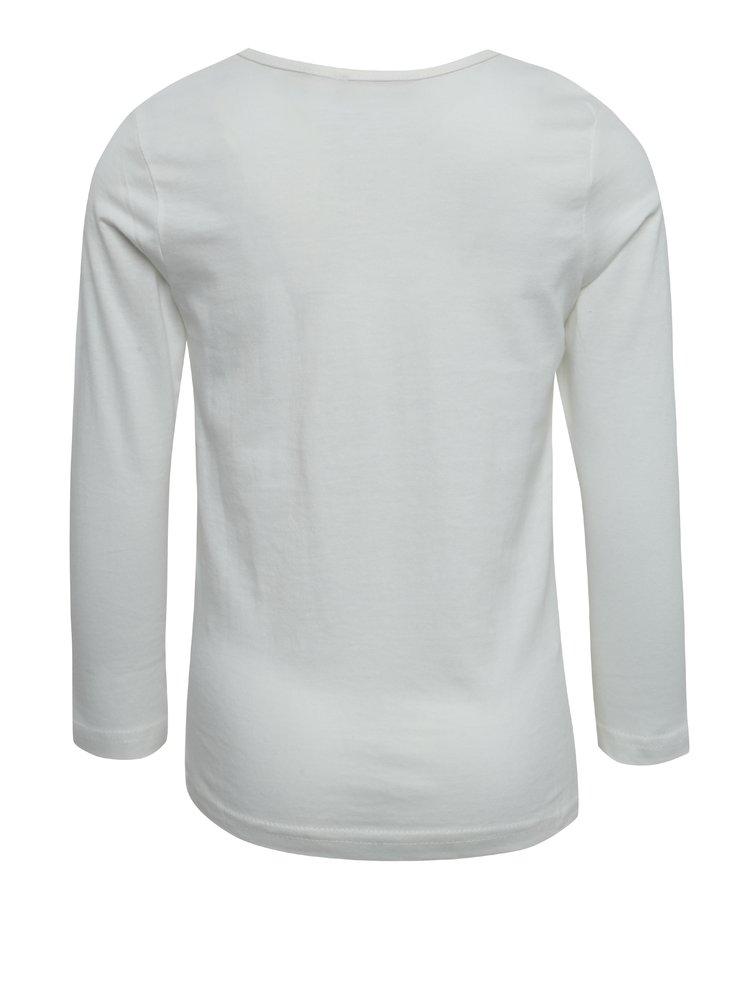 Krémové holčičí tričko s potiskem Blue Seven