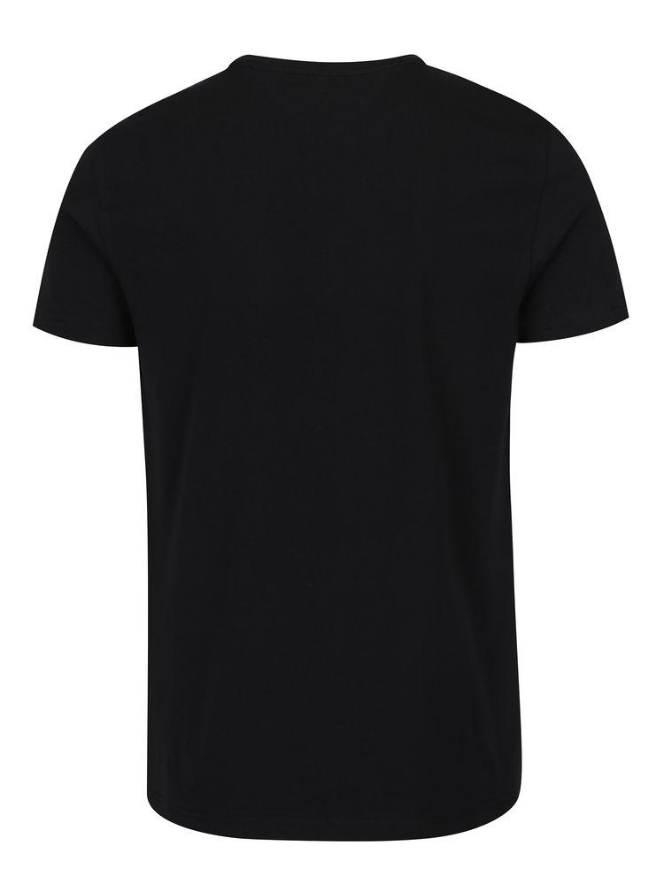 Čierne pánske basic tričko s krátkym rukávom Tommy Hilfiger New Stretch