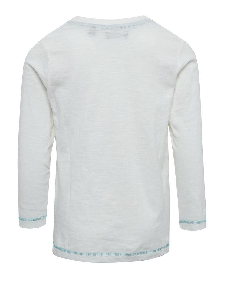 Krémové žíhané klučičí triko s potiskem Blue Seven