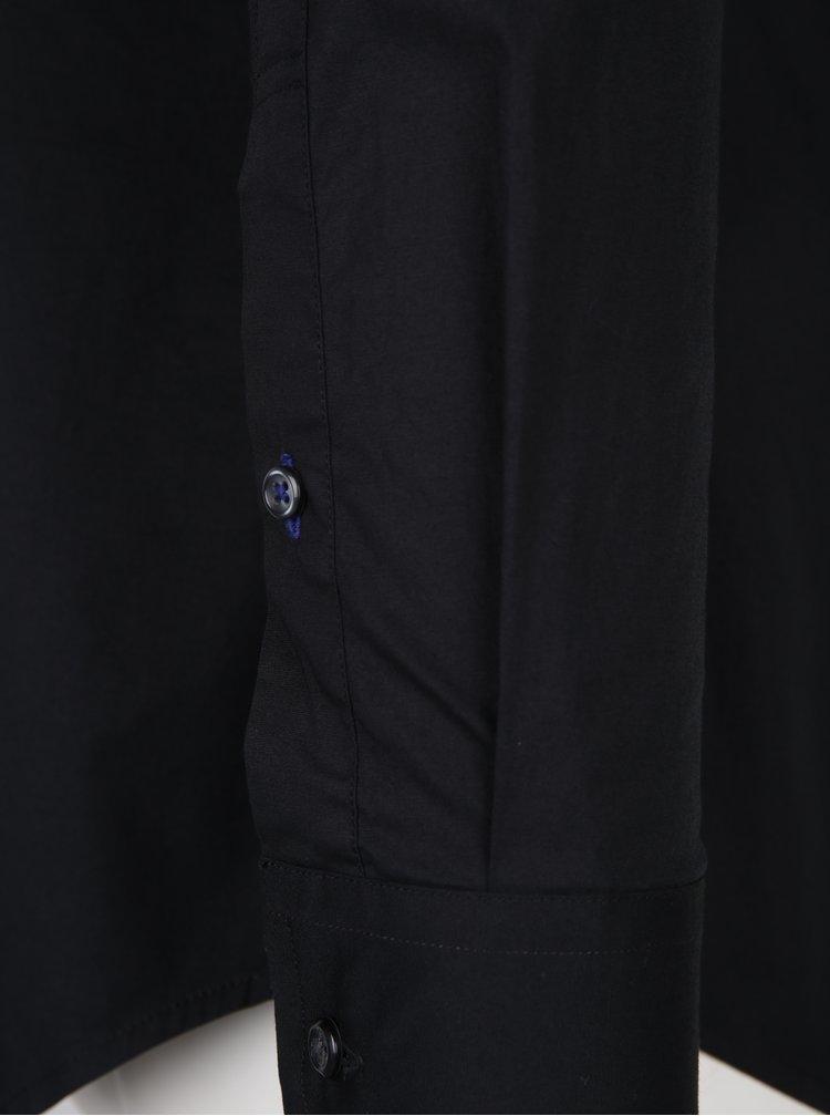 Černá pánská slim fit košile Tommy Hilfiger Stretch