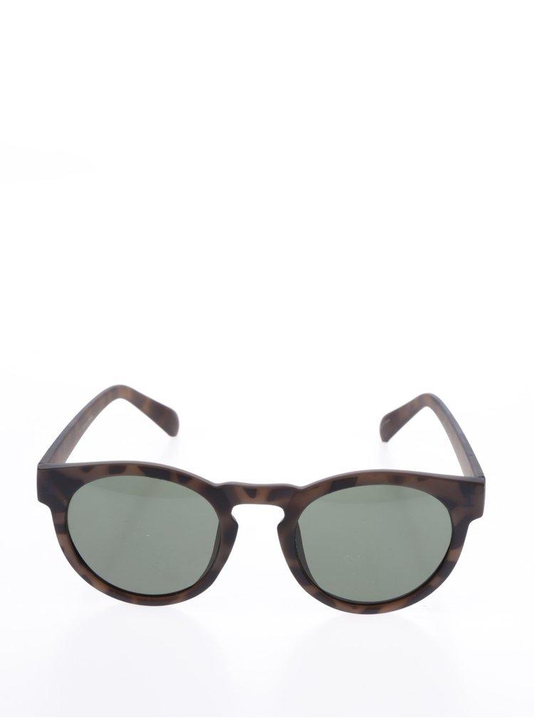 Tmavě hnědé vzorované sluneční brýle Jack & Jones Brad II.
