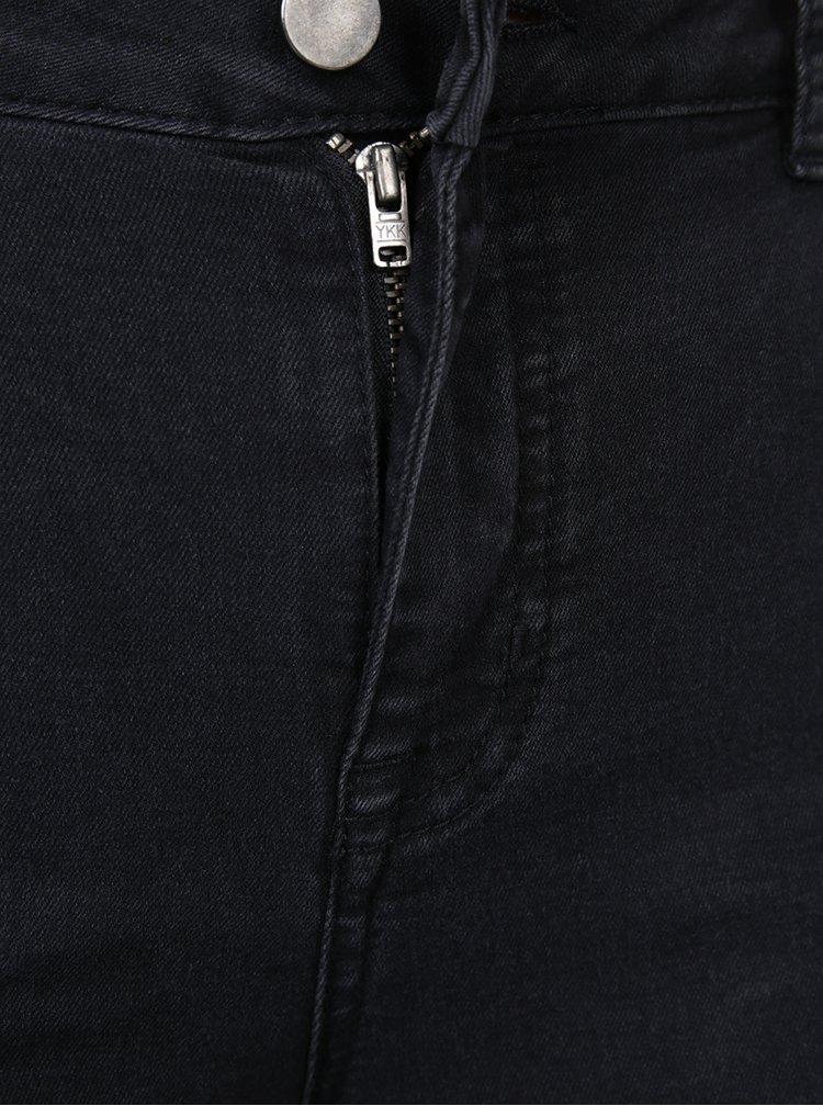 Černé ultra soft džíny s aplikací ve tvaru květiny Dorothy Perkins