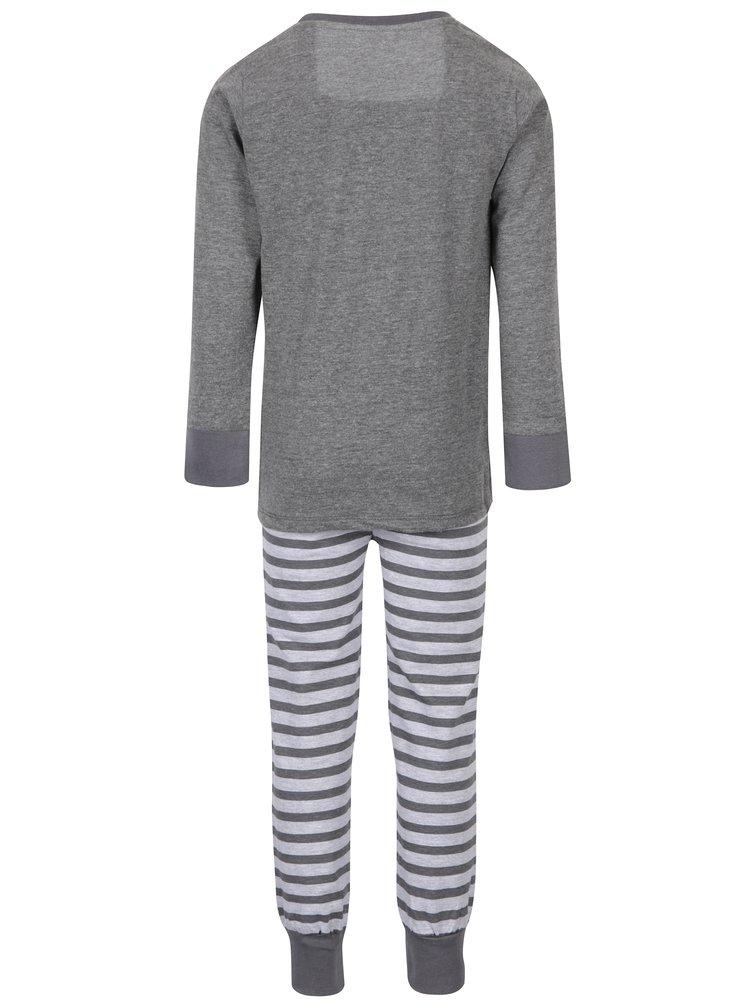 Šedé klučičí pyžamo s potiskem 5.10.15.