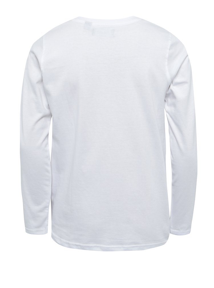 Čierno-biele chlapčenské tričko s potlačou Blue Seven