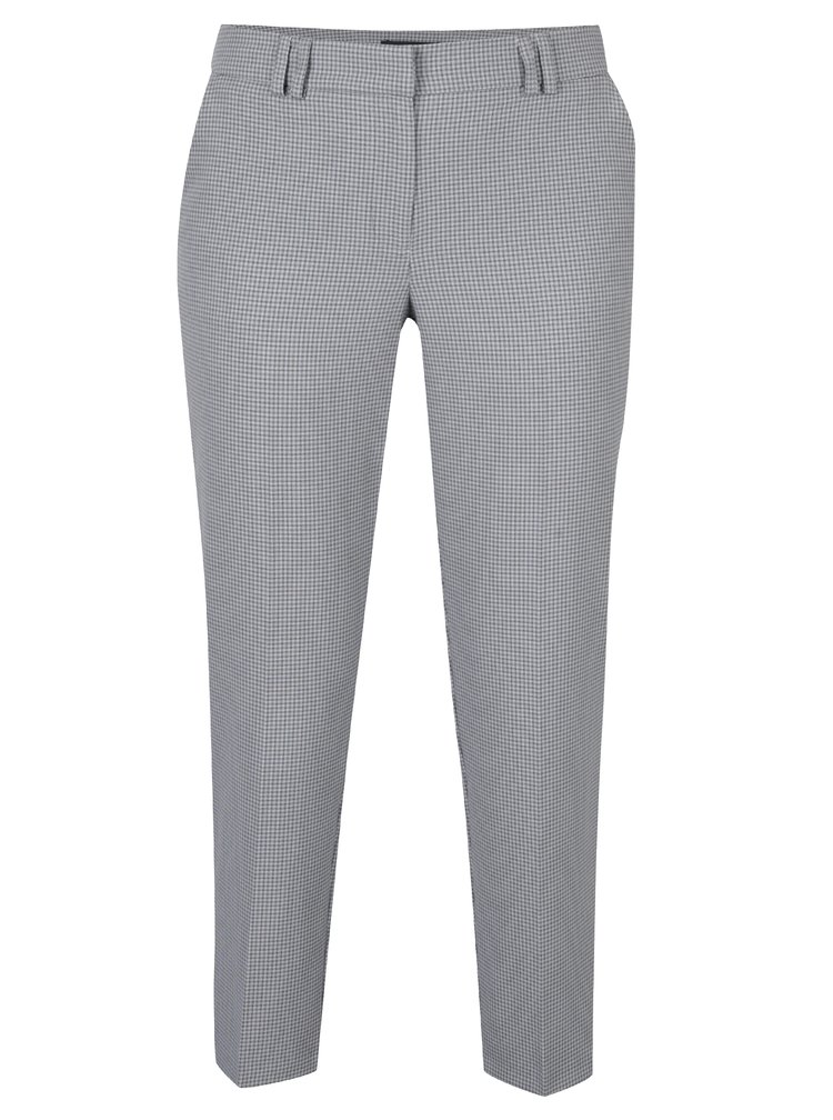 Černo-krémové zkrácené kalhoty Dorothy Perkins