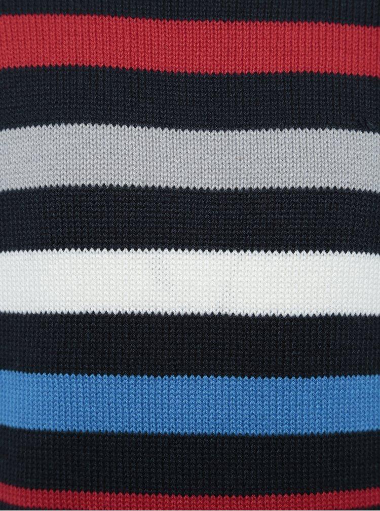 Tmavě modrý klučičí pruhovaný svetr Blue Seven