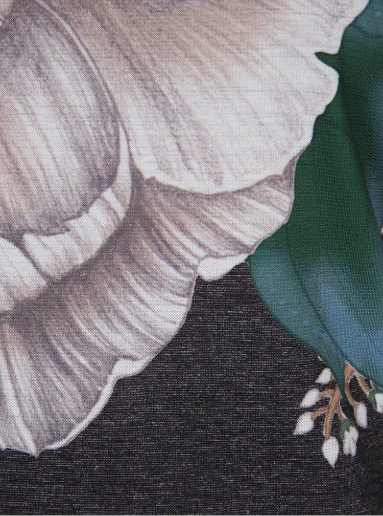 Rochie tubulară gri melanj cu decolteu la spate Desigual Pichi