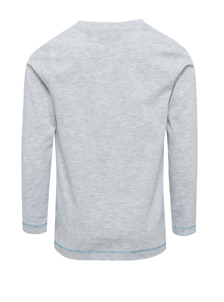 Šedé klučičí žíhané triko s potiskem Blue Seven