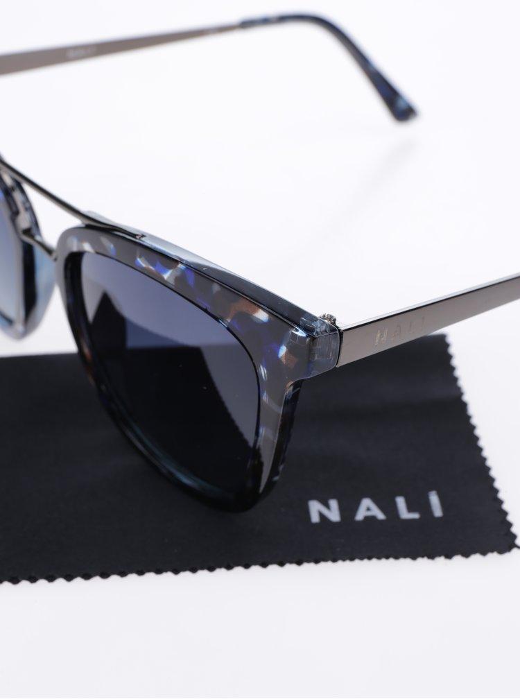 Modro-černé vzorované dámské sluneční brýle Nalí