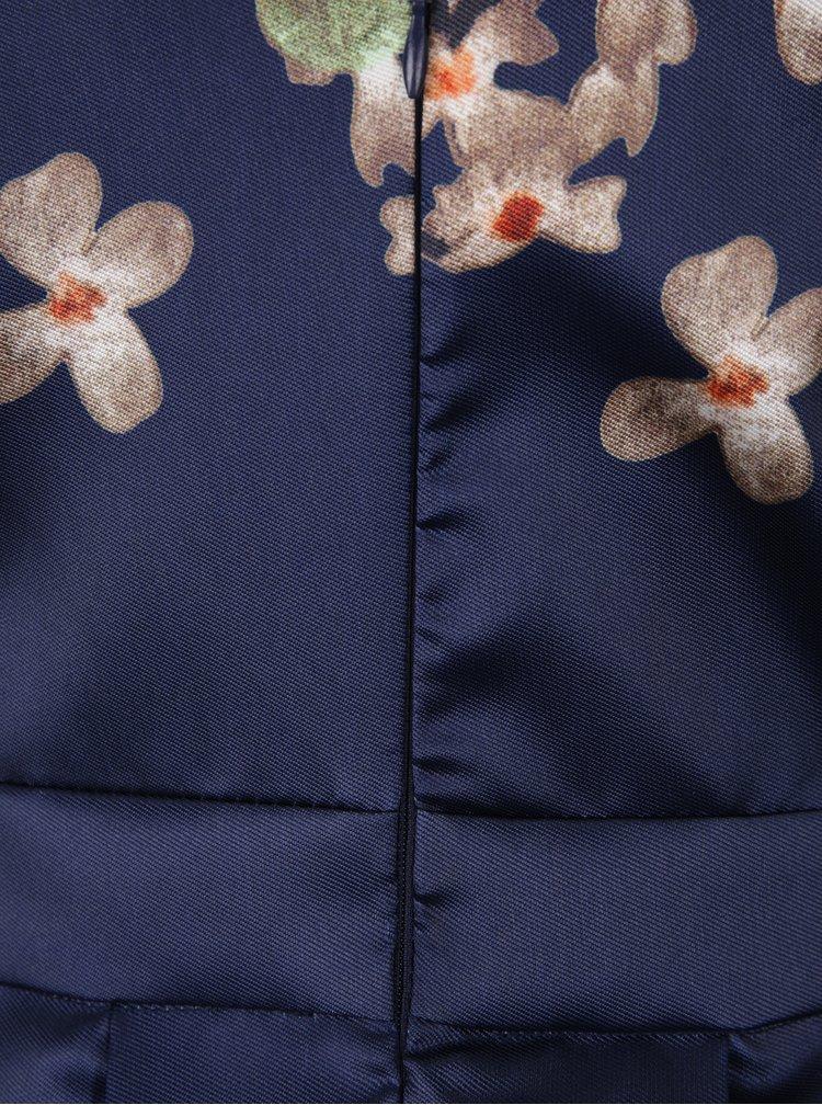 Tmavě modré šaty s potiskem květin Mela London