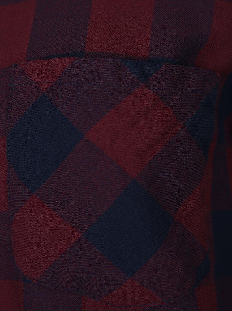 Modro-vínová kostkovaná košile Jacqueline de Yong Lola