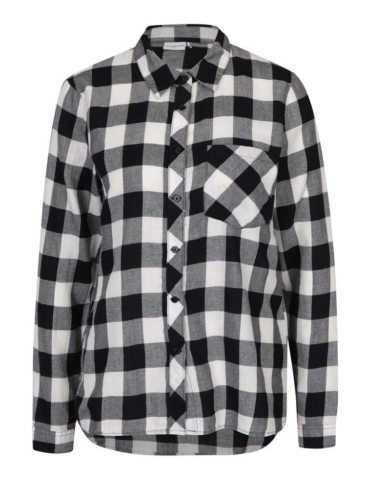 Krémovo-černá kostkovaná košile Jacqueline de Yong Lola