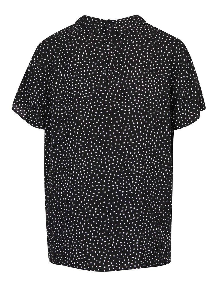 Bluză neagră cu buline Jacqueline de Yong Pica
