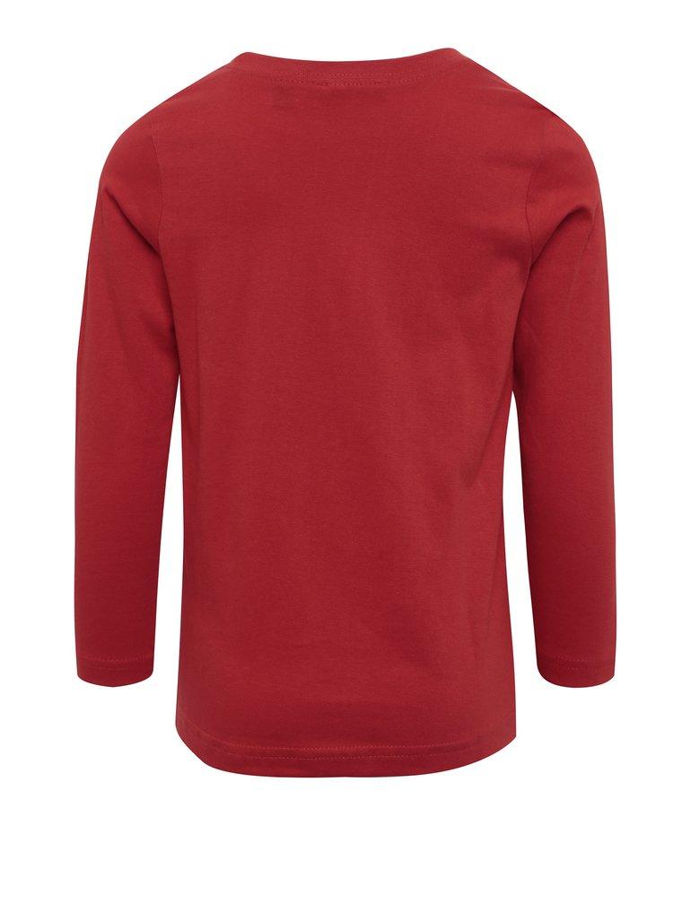 Červené klučičí triko s potiskem Blue Seven