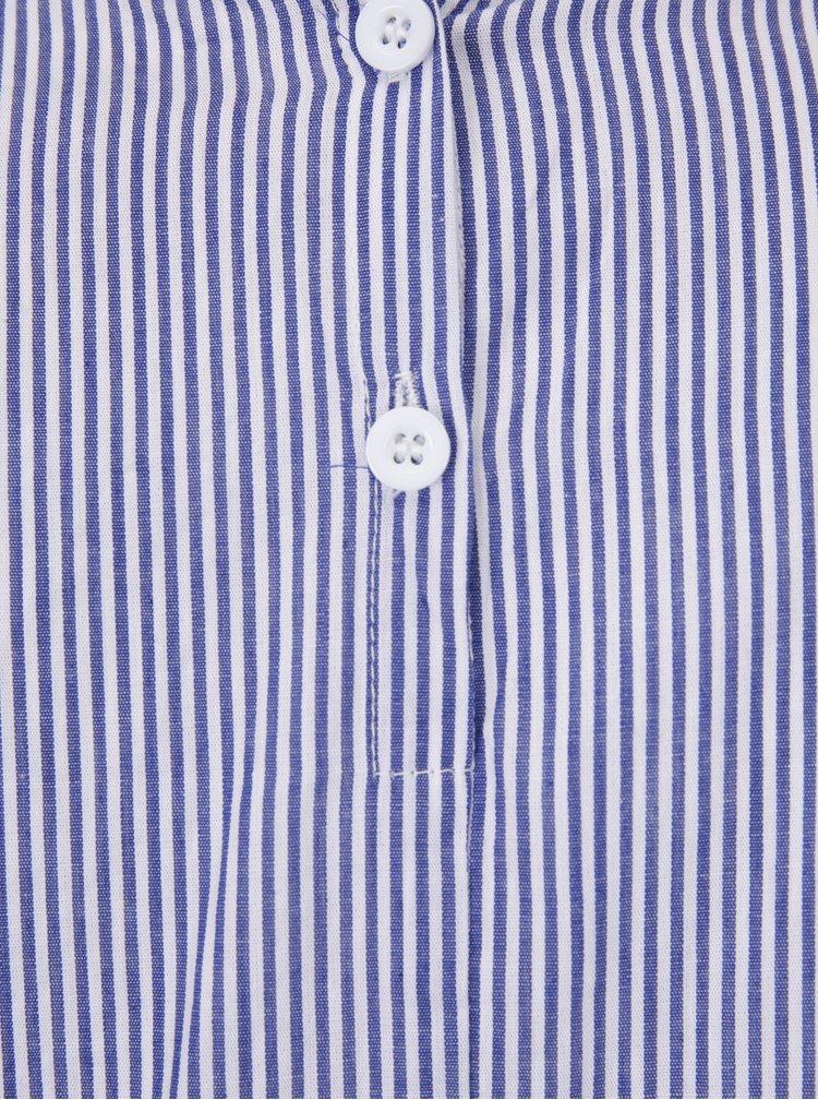 Krémovo-modrá pruhovaná halenka s výšivkou Haily´s Nora