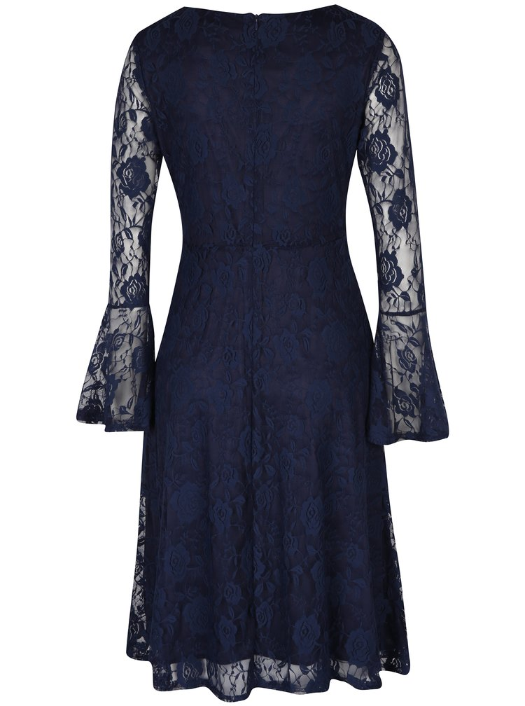 Rochie bleumarin cu dantelă - Mela London