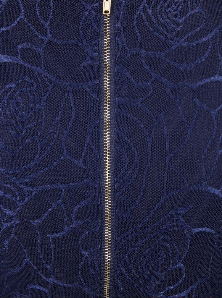 Rochie bleumarin cu maneci scurte - Mela London