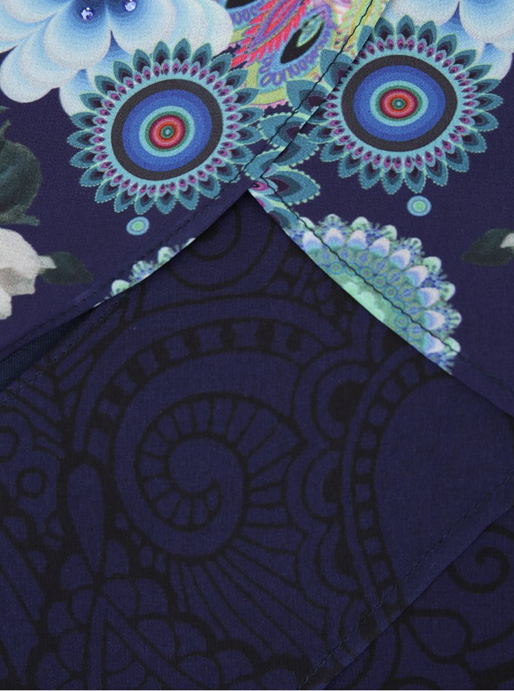 Bluza multicolora cu model in straturi suprapuse Desigual Dreams