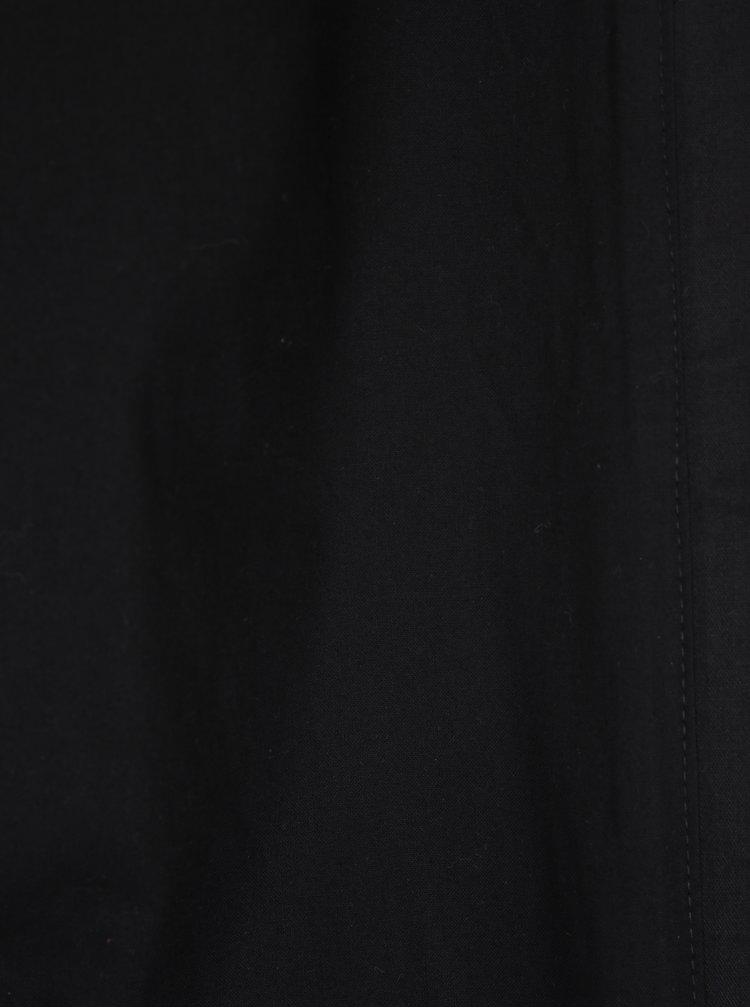 Palton negru subtire cu gluga Soolista