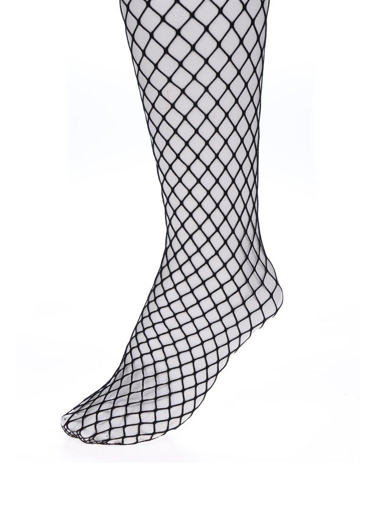 Dres negru de plasa cu ochiuri mari Haily´s Fishnet