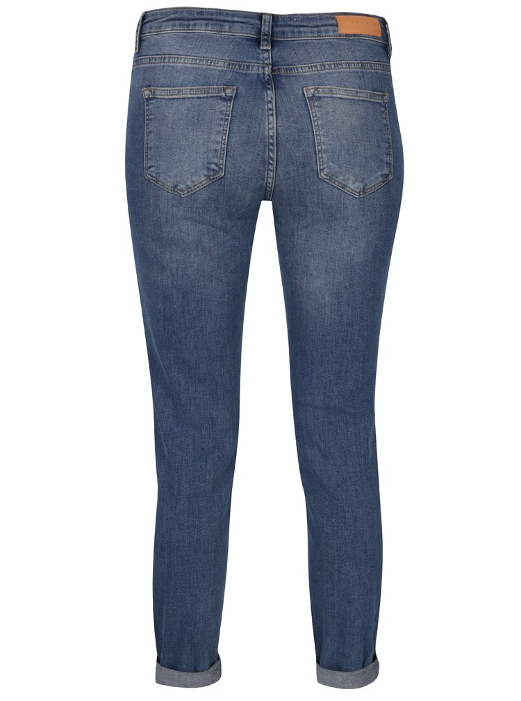 Modré džíny s vyšisovaným efektem YAYA