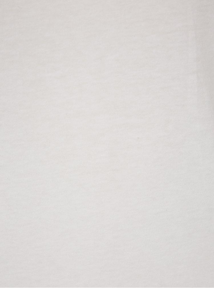 Tricou basic alb fildes din bumbac Haily´s Tari