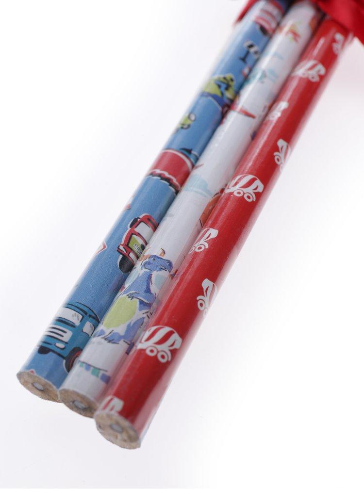 Sada šesti vzorovaných tužek v modré, červené a bílé barvě Cath Kidston