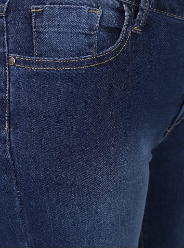Blugi albastri regular fit Haily´s Bella cu aspect prespalat