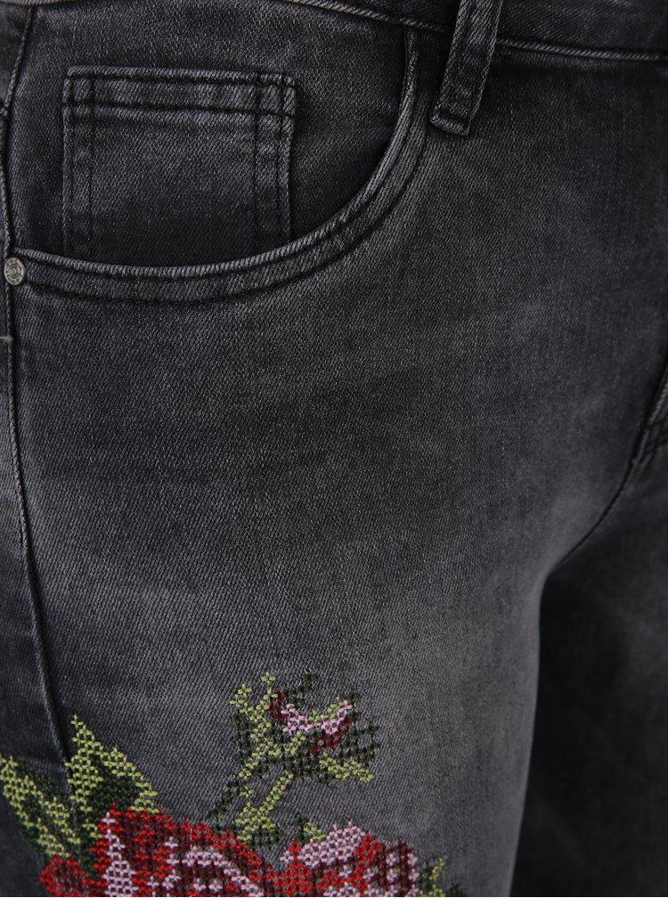 Šedé regural džíny s výšivkou Haily´s Sari