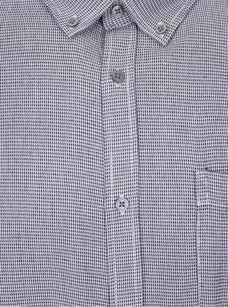 Černo-šedá pánská košile s jemným vzorem Broadway Najee
