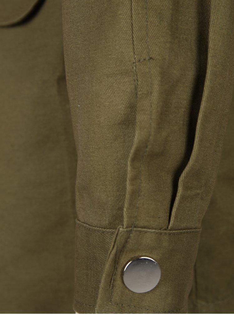 Jacheta kaki parka cu margele aplicate Haily´s Pearlsky