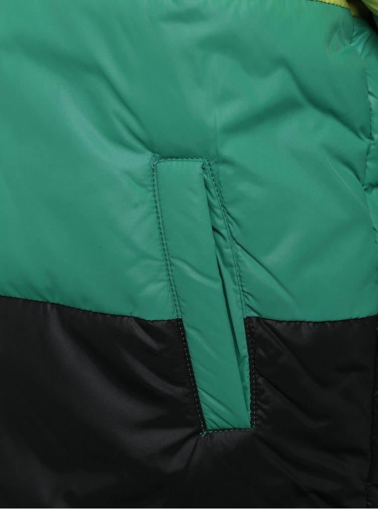 Modro-černá oboustranná prošívaná klučičí bunda BÓBOLI