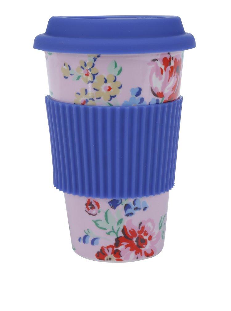 Růžovo-modrý cestovní keramický hrnek Cath Kidston