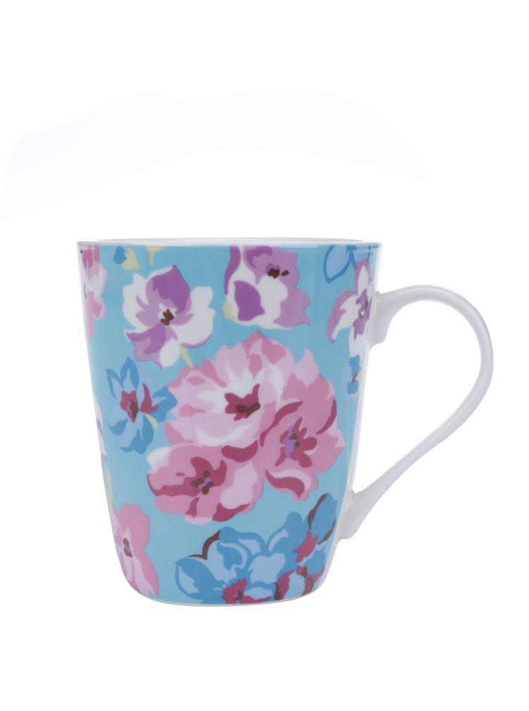 Růžovo-tyrkysový květovaný hrnek Cath Kidston