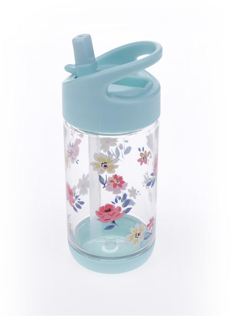 Mentolová dětská láhev s květovaným potiskem Cath Kidston