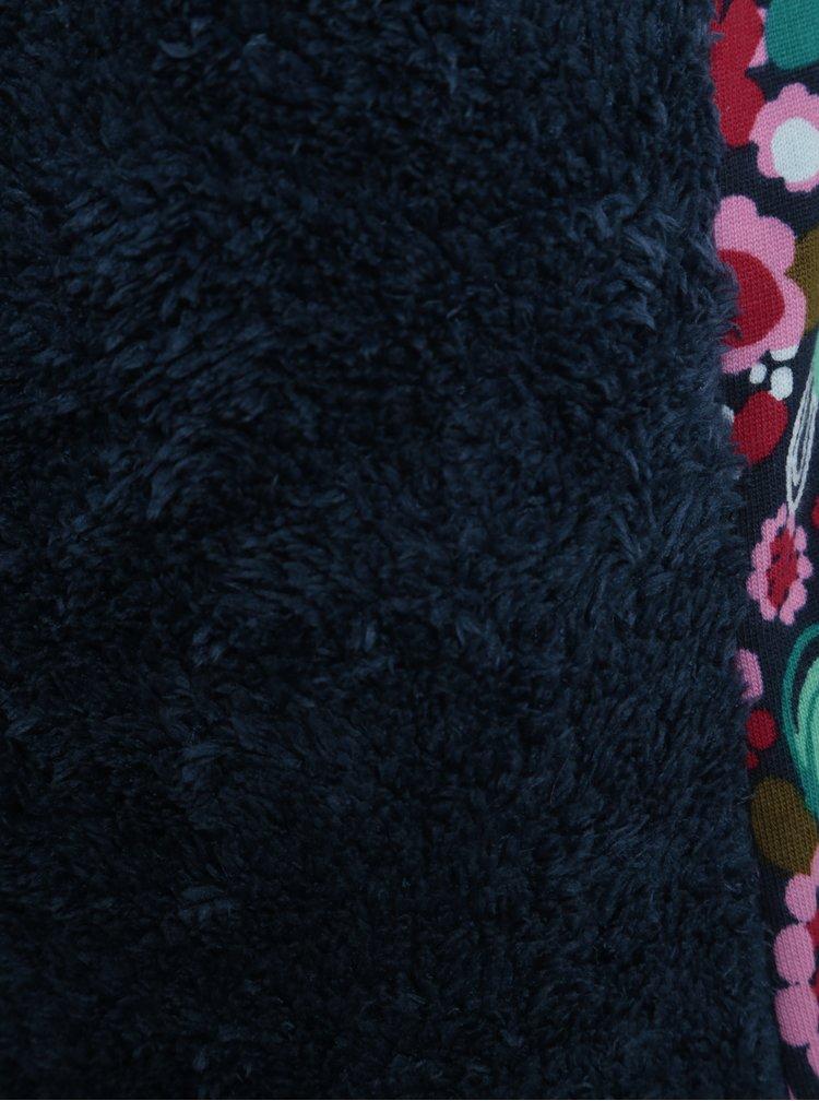 Modro-růžová holčičí květovaná mikina BÓBOLI