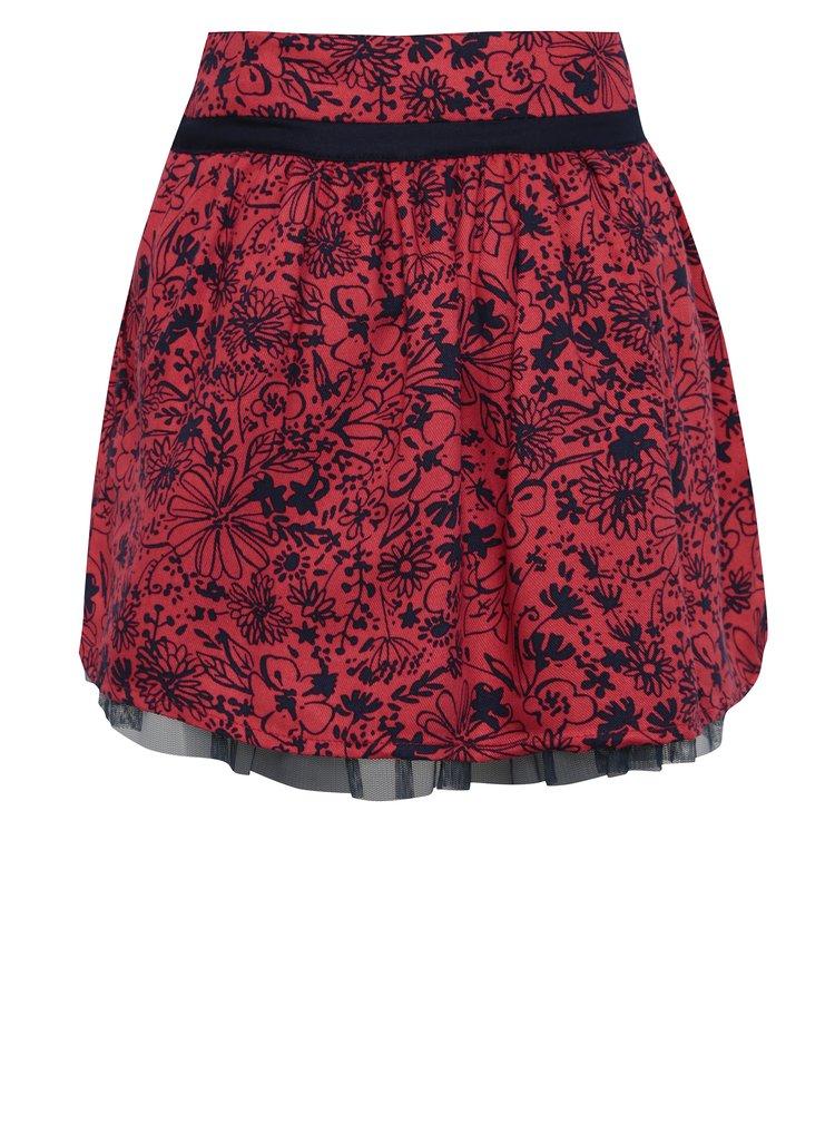 Červená holčičí  květovaná sukně BÓBOLI
