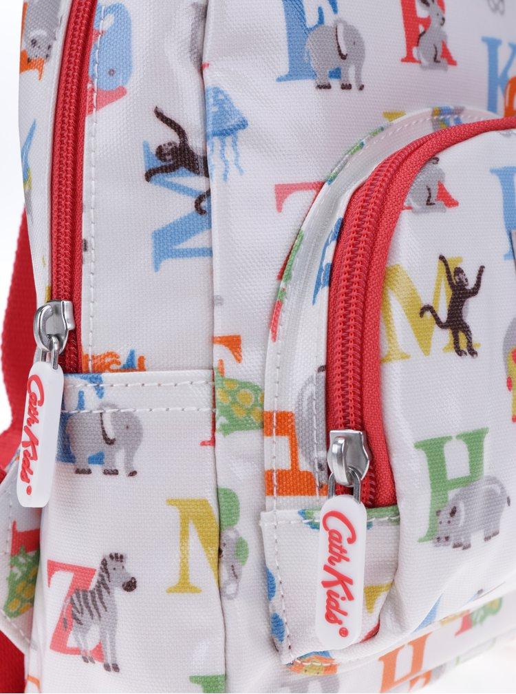 Krémový dětský batoh s barevným potiskem písmen Cath Kidston