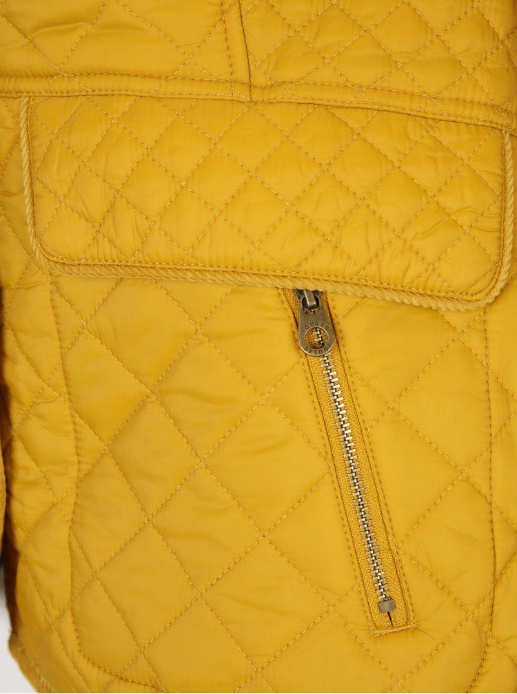 Žltá prešívaná bunda s vreckami Tom Joule Newdale