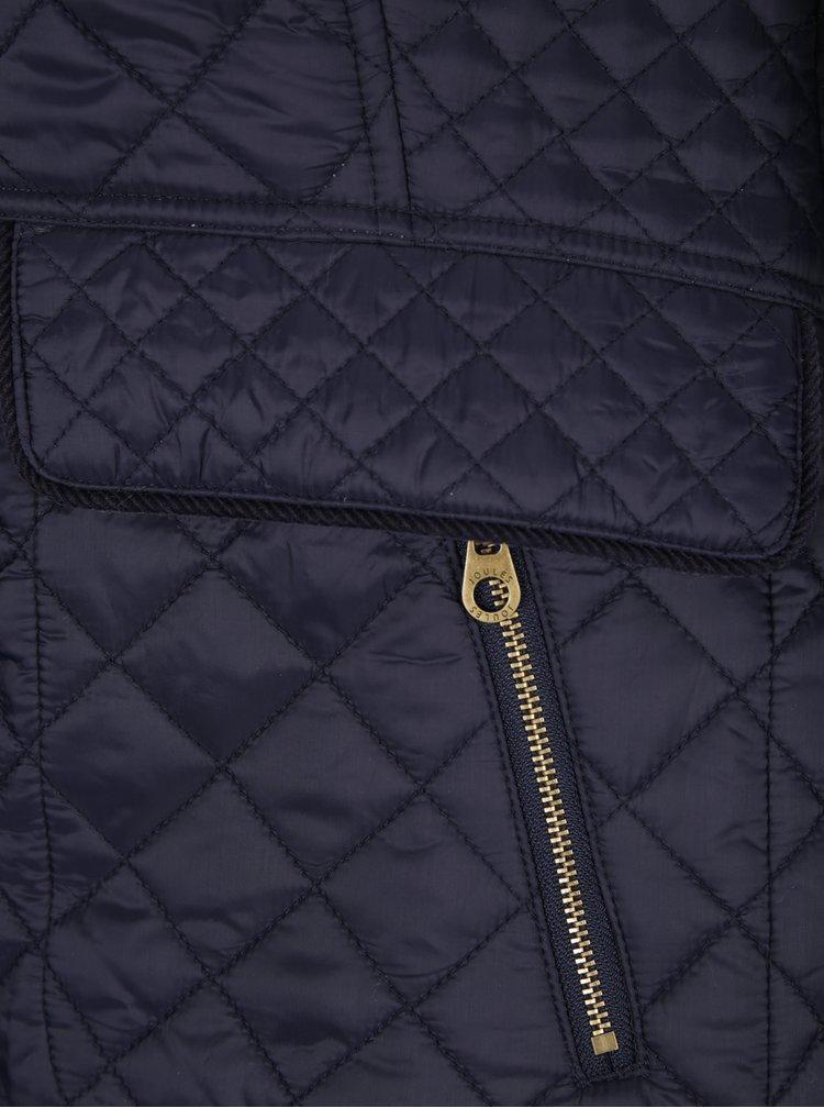 Tmavomodrá dámska prešívaná bunda s vreckami Tom Joule Newdale