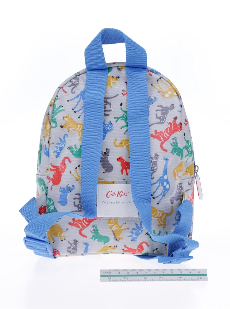 Modro-šedý klučičí batoh s motivem zvířat Cath Kidston