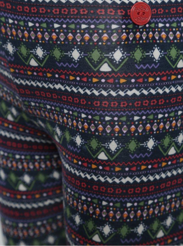 Holčičí vzorované legíny v modré, červené a zelené barvě BÓBOLI