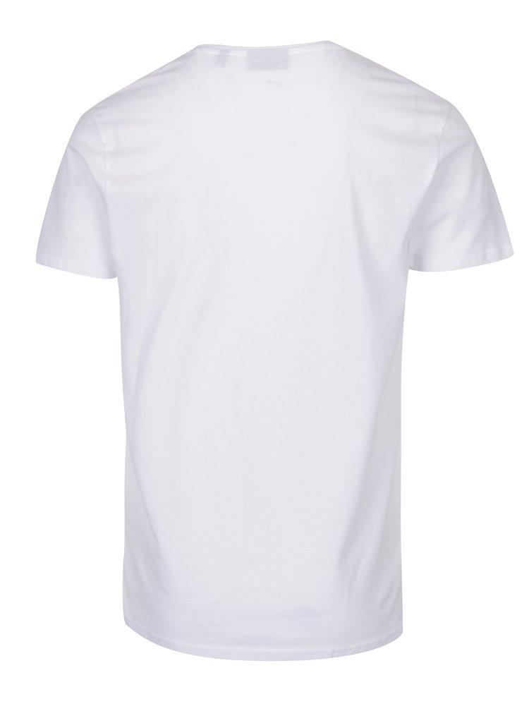 Tricou alb pentru bărbați Broadway Garet