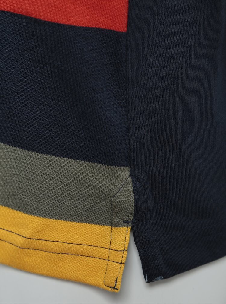 Žluto-modré klučičí pruhované polo tričko s dlouhým rukávem BÓBOLI