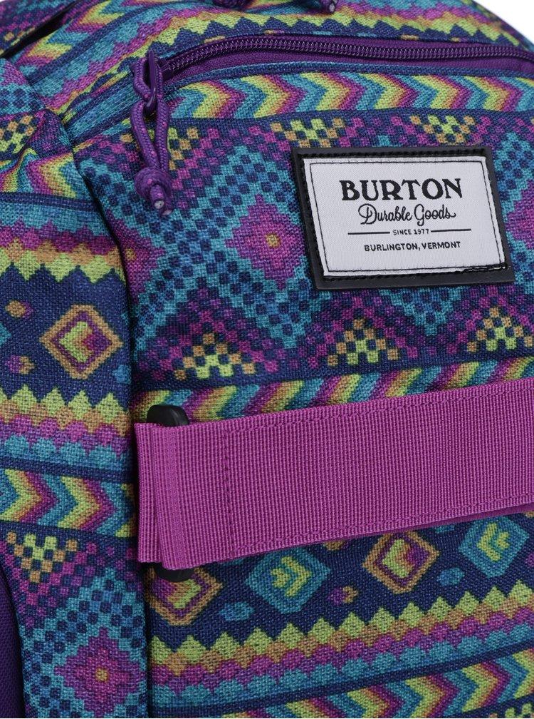 Fialový holčičí vzorovaný batoh Burton Metalhead 18 l